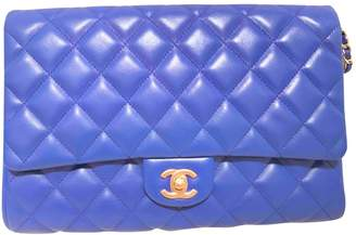 Chanel Timeless/Classique Navy Leather Clutch bags