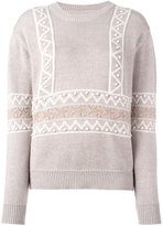 Chinti and Parker star intarsia sweater