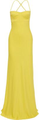 Mason by Michelle Mason Neon Crepe Gown