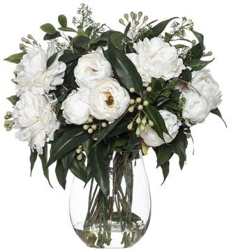 Albi Imports Peony Eucy Mix In Claire Vase White 66cmh