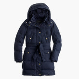 J.Crew Tall wintress belted puffer coat