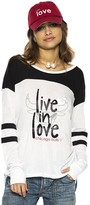 Peace Love World Live In Love® Chicago Bulls White/Black Long Sleeve Tomboy Top