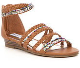 Steve Madden Girls' T-Bolly Braided Strap Sandals
