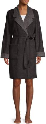 Donna Karan Sleepwear Notch Collar Robe