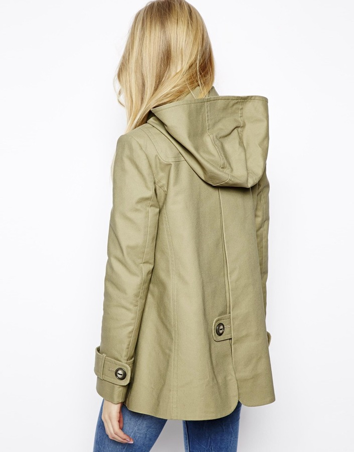 Asos Textured Swing Duffle Coat