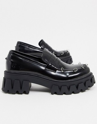 Koi Footwear Gensai Cyber Punk chunky loafers in black
