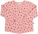 Oeuf Strawberry-Print Cotton Sweatshirt