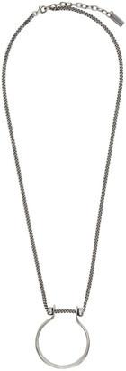 Saint Laurent Silver Tribal Necklace