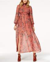 Endless Rose Mock-Neck Illusion Maxi Dress