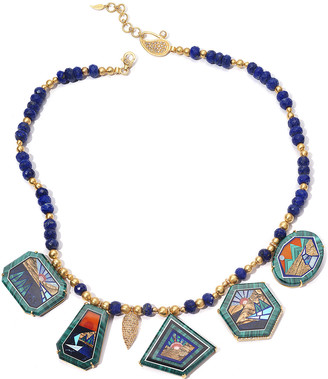 Coomi Affinity 20K Malachite 5-Pendant Necklace w/ Lapis and Diamonds