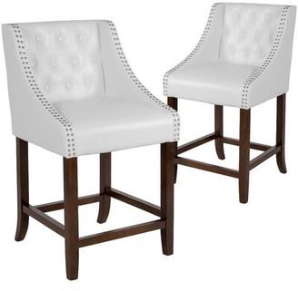 """Alcott Hillâ® Enriquez Bar & Counter Stool Alcott HillA Seat Height: Counter Stool (24"""" Seat Height), Upholstery: White"""