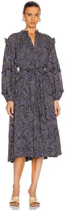 Ulla Johnson Layla Dress in Indigo Diamond | FWRD