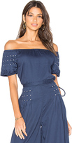Carolina K. Stars Top in Blue