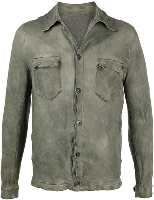 Salvatore Santoro Leather Long Sleeve Shirt