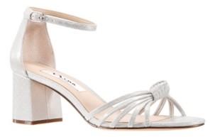 Nina Nidiah Satin Block Heel Sandal Women's Shoes