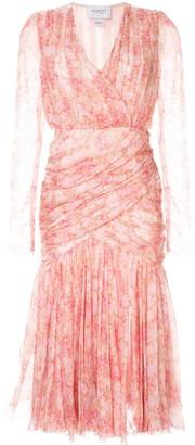 Giambattista Valli silk floral dress