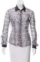 Just Cavalli Silk Button-Up Top w/ Tags