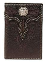 Ariat A3517201 Floral Concho Embroidery Tri-Fold Wallet, Black - One Size
