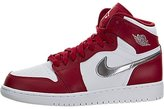 Jordan Big Kids Air 1 Retro High (GS) (gym / metallic silver-white) Size 5 US