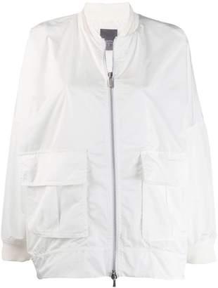 Lorena Antoniazzi oversized bomber jacket