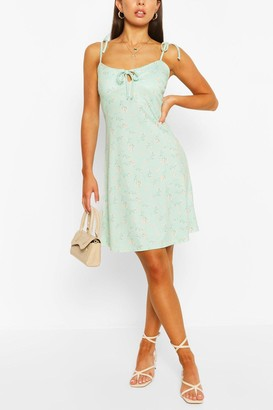 boohoo Ditsy Floral Strappy Swing Dress