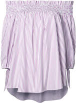 Caroline Constas striped off-shoulder blouse