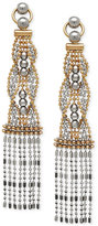 Macy's Two-Tone Beaded Dangle Drop Earrings in 14k Gold and White Gold