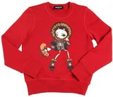 DSQUARED2 Girl Printed Cotton Sweatshirt