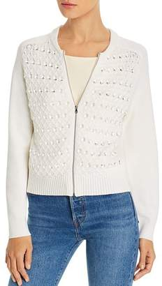 Kobi Halperin Ashley Embellished Zip Cardigan Sweater