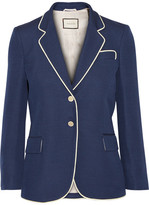 Gucci Embellished Silk And Wool-blend Blazer - Storm blue