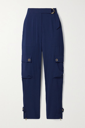 Jonathan Simkhai Lianna Belted Woven Tapered Cargo Pants - Navy