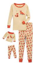 Tan Fox Pajama Set & Doll Outfit - Girls
