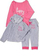 Silly Souls Happy Thoughts Ballet Wrapped Girl Baby Cotton Footie Pink 6-12Month