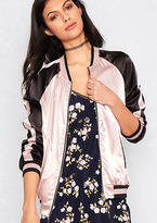 Missy Empire Calypso Pink and Gold Reversible Bomber Jacket