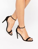 Call it SPRING Liraniel Black Barely There Heeled Sandals