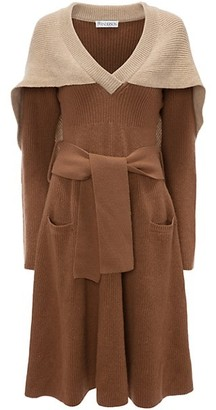 J.W.Anderson Cape Knit Tie-Waist Dress