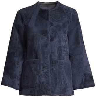 Pologeorgis Patchwork Shearling Jacket