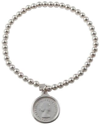 Von Treskow Stretchy Coin Bracelet (4mm beads)