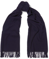 Acne Studios Canada Wool Scarf - Navy