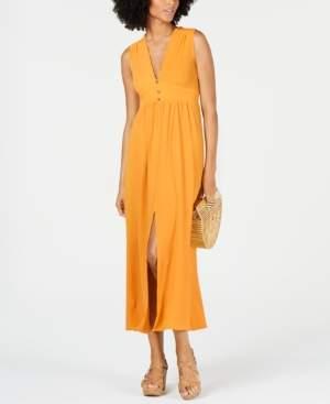 Monteau Petite Split-Hem A-Line Maxi Dress