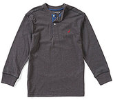Nautica Big Boys 8-20 Henley Long-Sleeve Tee