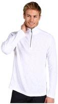 Calvin Klein Jeans L/S Half Zip Textured Knit Shirt (White) - Apparel