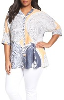 Nic+Zoe Plus Size Women's Sungrove Print Top