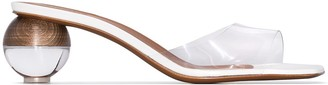 Neous Clear Opus 50 PVC Mid Heel Sandals