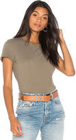James Perse Feather Tee in Green. - size 0 (XXS/XS) (also in 1 (XS/S),2 (S/M),3 (M/L))
