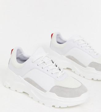 Criminal Damage chunky trainer in white
