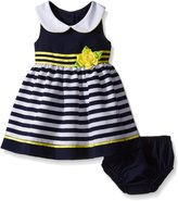 Bonnie Baby Baby Solid To Stripe Nautical Dress
