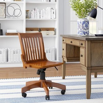 Three Posts Featherston Bankers Chair Arms: Yes, Frame Finish: Fruitwood