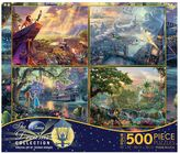 Disney Dreams 3 Thomas Kinkade 500-piece Jigsaw Puzzle 4-piece Set
