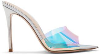 Gianvito Rossi Silver Hologram Elle Sandals